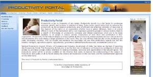 National Productivity Portal